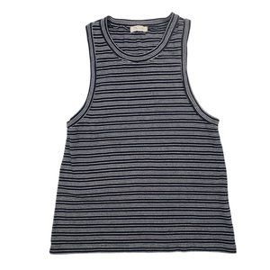 Madewell Striped Cut Off Tee size Large